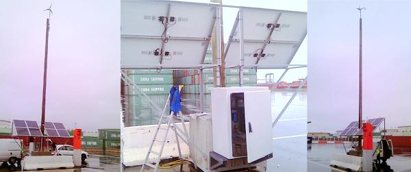Installation hybride en zone portuaire