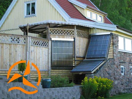 Capteur solaire à tubes sous vide - Photo installation