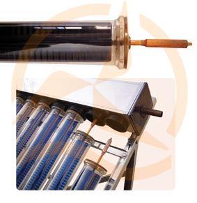 Capteur solaire à tubes sous vide - Photo d'un tube avec douille de transfert thermique