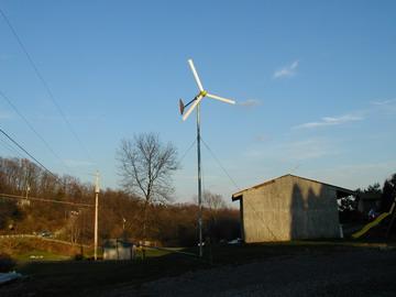 Photo de l'éolienne 12 Volts 300 Watts nouvelle génération sur Energiedouce.com