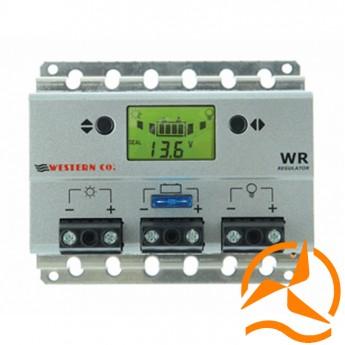 Régulateur de charge 20 Ampères 12-24 Volts avec afficheur LCD et détecteur crépusculaire (Fabrication Européenne)