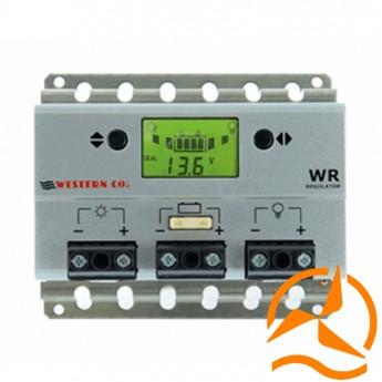 Régulateur de charge 30 Ampères 12-24 Volts avec afficheur LCD et détecteur crépusculaire (Fabrication Européenne)