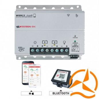 Régulateur de charge MPPT 15 Ampères 12-24 Volts avec afficheur LCD et Bluetooth