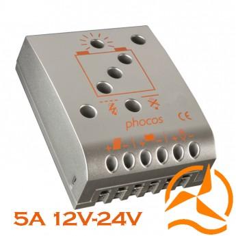 Régulateur Phocos 5 Ampères 12-24 Volts