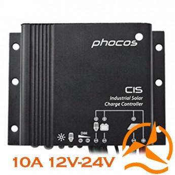 Régulateur Phocos étanche 10 Ampères 12-24 Volts fonction crépusculaire