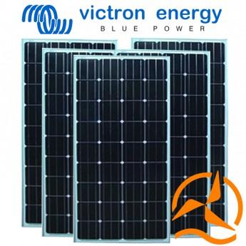 Lot de 5 panneaux solaires monocristallins haut rendement 100 Watts 12 Volts Victron Energy