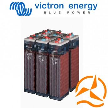 Lot de 6 batteries ouvertes OPzS 2 Volts 1210 Ah très longue durée de vie - spéciales applications solaires