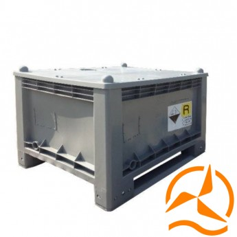 Conteneur pour batteries d'un volume de 300 litres certifié ADR