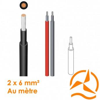 Câble électrique souple 2 x 6 mm² vendu au mètre