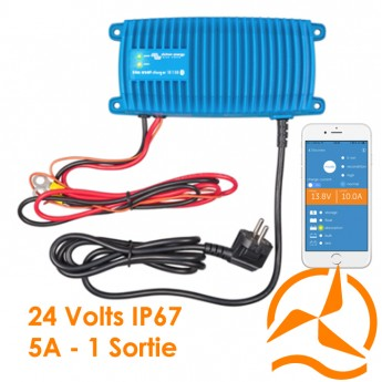 Chargeur de batterie Blue Power Ip67 24 volts 5A si un sortie de charge - Victron Energy