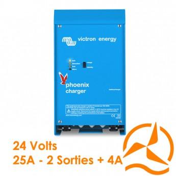 Chargeur de batterie phoenix 24 volts 25A avec deux sorties de charge - Victron Energy