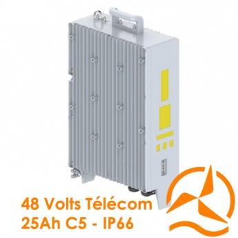 Batterie lithium-ion 25Ah C5 pour sites de relais de télécommunications et pour opérateurs télécoms