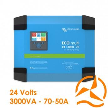 Convertisseur de courant et Chargeur de batterie Eco-multi 24 Volts 3000VA 70-50A - Victron Energy