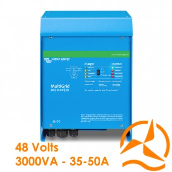 Convertisseur de courant et Chargeur de batterie MultiGrid 48 Volts 3000VA 35-50A - Victron Energy