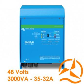 Convertisseur de courant et Chargeur de batterie MultiGrid II 48 Volts 3000VA 35-32A - Victron Energy
