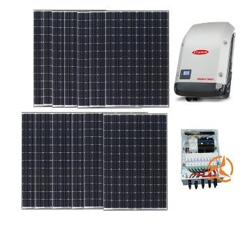 Kit Solaire Autoconsommation D'une Puissance de 5KWc sans stockage - 10 à 15kwh PV - Onduleur PV - Monophasé
