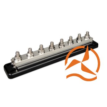 Busbar 600A - 8 plots + cover Victron Energy
