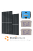 Kit Solaire Autoconsommation avec stockage - PV 760 Wc - 2,4 kWh Batterie 24V - Convertisseur 1200 VA Monophasé