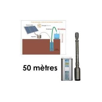 Kit solaire complet pompage 50 mètres 24-48 Volts 160 Watts