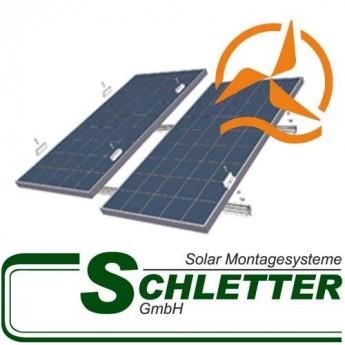 Rails de fixation pour panneaux solaires sur toiture Schletter
